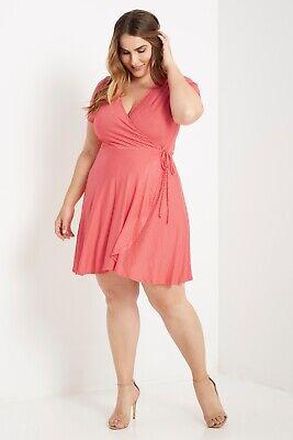 Striped Coral Dress Plus Size