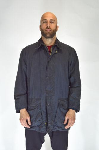 Barbour border veste wax blouson bleu coton taille c46/117cm - xxxl man
