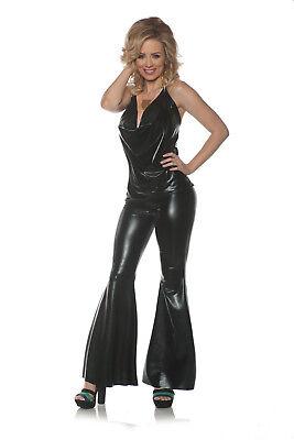 Black Ladies Night Womens Adult 70S Disco Diva Halloween - Black Disco Diva Kostüm