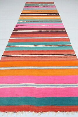"Vintage Anatolian Kilim Runner Carpet Runner Hallway Corridor Runner 37,7""X125,9 for sale  Shipping to South Africa"