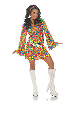 Summer Womens Adult 60S Groovy Hippie Chick Halloween Costume - Halloween Hippie Costume