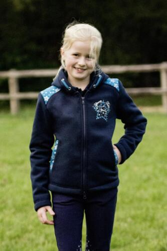 Busse Children Thermal Sweatshirt Jacket Kids Collection VI Navy Stars