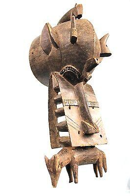Art African Arts Tribal - Antique & Authentic Mask Poniugo Senoufo - 50 Cm