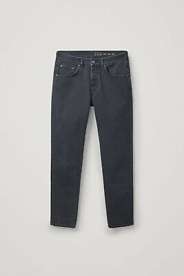 COS Men's Slim Tapered Jeans sz 33 – Grey/Faded Black – Slim Leg Denim Acne