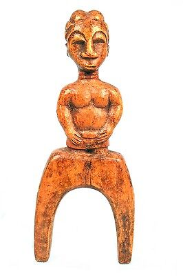 Art African First Primitive - Antique Lance Stone Sling Slingshot Baoulé