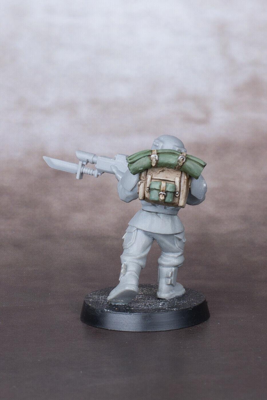 как выглядит Assault Pack for Imperial Guard Cadian Infantry  upgrade backpack фото