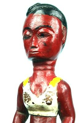 Art African - Antique Lance Stone Agni Anyi - Woman IN Swimsuit - 21 CMS