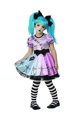 Little Blue Skelly Mädchen Kind Gruselig Böse Aufziehbare Spielzeug Puppe - Böse Puppe Kostüm
