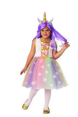 Einhorn Mädchen Kinder Prinzessin Leuchtend Tutu Halloween - Märchen Prinzessin Tutu Kostüm