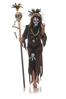 Hex Womens Adult Witch Doctor Voo Doo Magic Halloween Costume (Female Witch Doctor Costume)