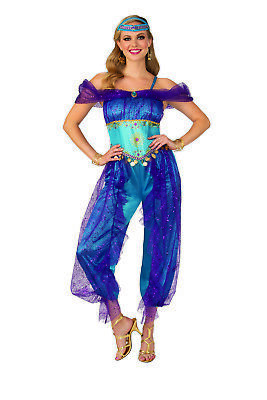 Arab Woman Costume (Genie Womens Adult Arabian Belly Dancer Halloween)