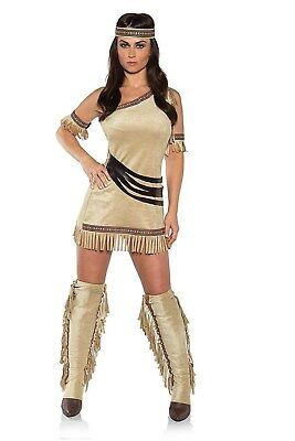 Fawn Cowgirl Indian Adult Womens Halloween Costume](Fawn Costume Halloween)
