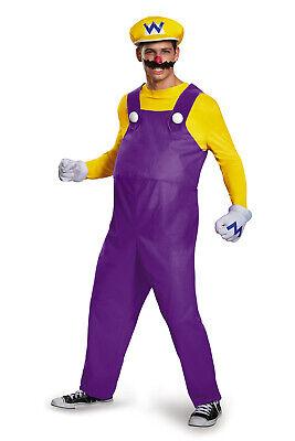 Wario Mens Adult Deluxe Super Mario Racer Video Game Halloween Costume