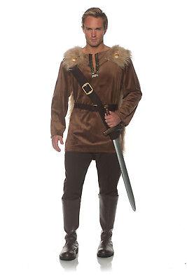 Huntsman Mens Adult Wooded Hunter Robin Hood Brown Costume