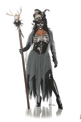 Underwraps Black Magic Woman Voodoo Witch Doctor Adult Women's Costume SM-XL