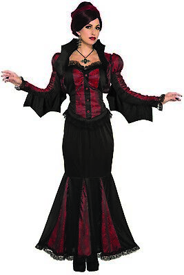 Lady Of Darkness Womens Adult Gothic Vampire Halloween Costume