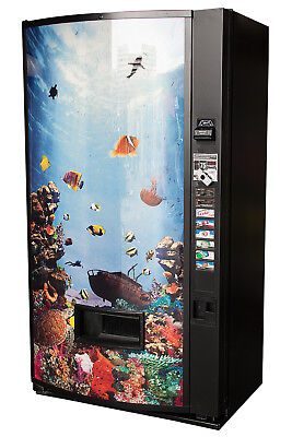 Vendo V480 8 Selection Can Soda Vending Machine W Aquarium Graphic