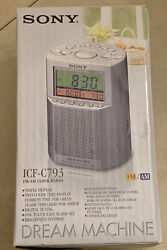SONY ICF-C793 Dream Machine AM/FM Alarm Clock Radio Dual Alarm