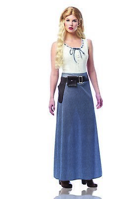 Show Girls Costumes (West Girl Womens Adult Westworld TV Show Dolores Abernathy)