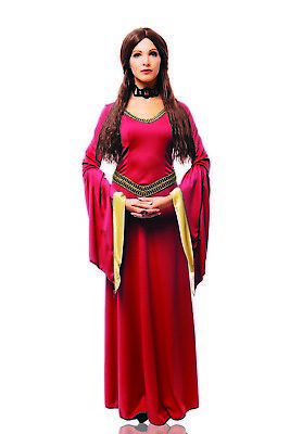 Costume Of Witch Halloween (Red Witch Womens Adult Game Of Thrones Melisandre Halloween)