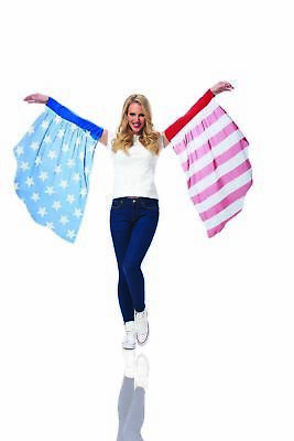 Americana Fourth Of July Womens Adult Halloween Costume Flowy Arm Sleeves - Fourth Of July Halloween Costumes