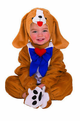 Puppy Infant Brown Dog Blue Bow Halloween Costume-Inft NEW