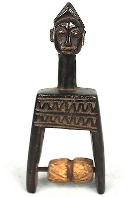 Art African Tribal - Pulley Occupation in Loom Baoulé - Engravings Akan - 17 CMS
