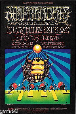 Jimi Hendrix Rick Griffin Authentic Fillmore Concert Handbill 1968 Buddy Miles