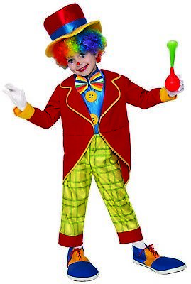 Funny Clown Boys Child Cute Circus Performer Halloween Costume - Funny Halloween Costumes Boy