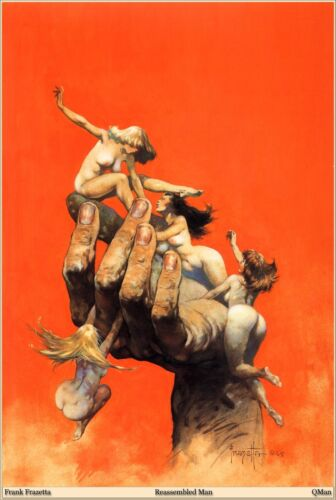 "Authentic Frank Frazetta Print  ""REASSEMBLED MAN""  14 x 19  #89"