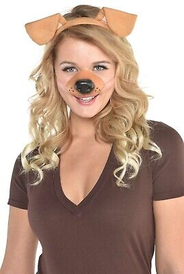 Hund Selfie Damen Erwachsene Tier Halloween Kostüm Satz ()