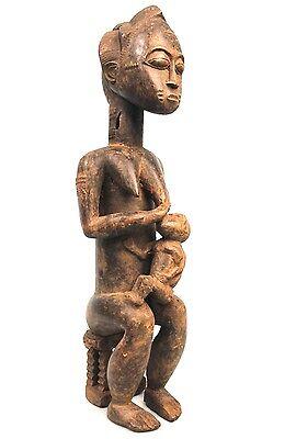 Art African Arts Premiers Antique Maternity Baoulé - Details Fabulous - 47 Cm