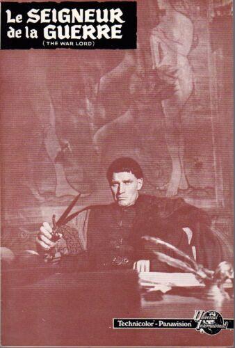 Charlton HESTON Richard BOONE Rosemary FORSYTH french Pressbook The WAR LORD