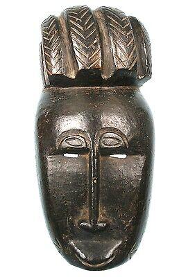 Art African Arts Primitive - Antique Small Mask or Passport Baoulé - 26,5 Cm