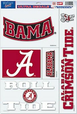 Alabama Crimson Tide 11x17 Ultra Decal Sheet [NEW] Car Auto Sticker Emblem Cling