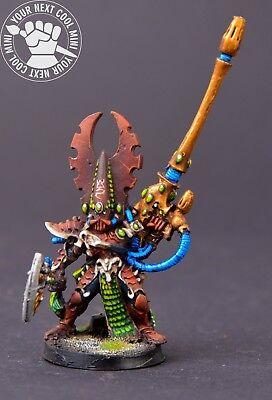 Warhammer 40k. Eldar Phoenix Lord Fuegan 1 metal mini, pro paint w dec stand for sale  Shipping to India