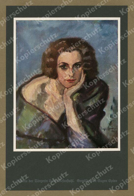 Eugen Spiro Porträt Tänzerin Leni Riefenstahl Erotik Art Deco Berlin Malerei ´25