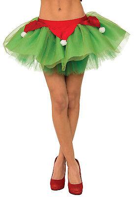 Ms Claus Kostüme (Ms Elf Santa Claus Helper Adult Women Christmas Tutu Skirt)