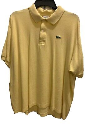 LACOSTE MEN'S LIGHT YELLOW POLO SHIRT SIZE 8 (XXL)