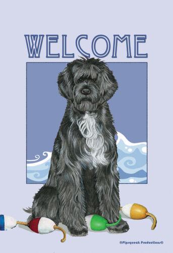 Pipsqueak House Flag - Portuguese Water Dog 49577