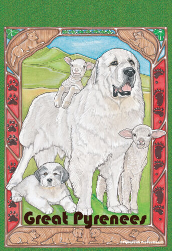 Pipsqueak House Flag - Great Pyrenees 49967