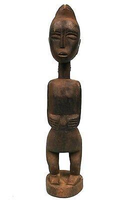Art African - Antique - Fetish Baoulé Archaic in L'Expression Serene - 35 CMS