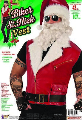 Weihnachtsmann Herren Erwachsene Rot Weihnachtsferien Biker - Biker Mann Kostüm