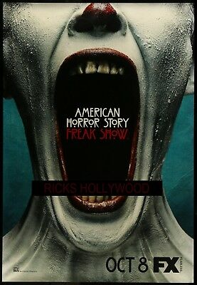 """Original AMERICAN HORROR STORY 48"""" X 70"""" Double Sided Bus Shelter Poster #2"""