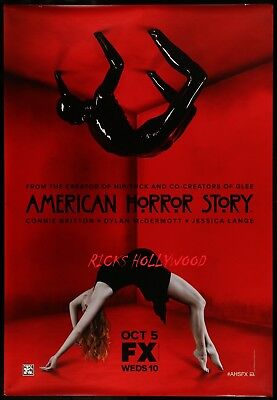 """Original AMERICAN HORROR STORY 48"""" X 70"""" Double Sided Bus Shelter Poster #7"""