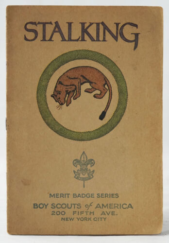 1925 Stalking Merit Badge Book - Boy Scouts of America BSA