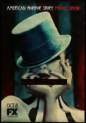 """Original AMERICAN HORROR STORY 48"""" X 70"""" Double Sided Bus Shelter Poster #1"""