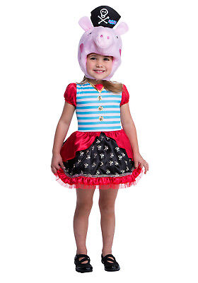 Peppa Pig Pirate Girl's Halloween Party Toddler Costume Size 2T New Free Ship