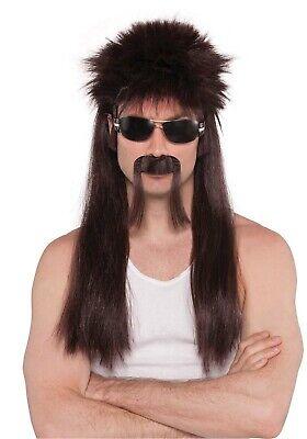 18 Wheeler Herren Erwachsene Trucker Braun Kostüm Perücke Schnurrbart - Wheeler Kostüm