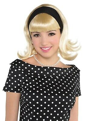 Sandy Dee Damen Erwachsene Fett Film Unschuldig blond 50er Jahre Kostüm Perücke
